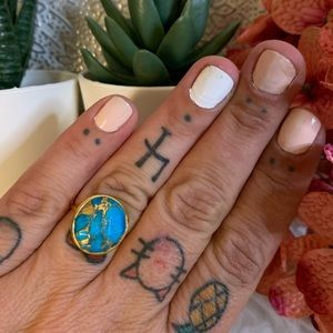Local Eclectic Turquoise Mojave Statement Ring